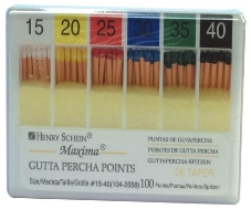Maxima Tapered Gutta Percha Points Color Coded .04 Size 45 100/Box