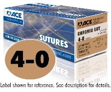 ACE 4-0 Chromic Gut Sutures, DSM13, 18″