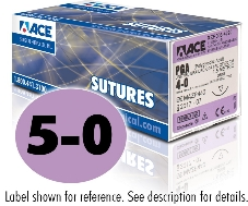 ACE 5-0 Violet Braided PGA Coated Sutures, DSM13, 18″