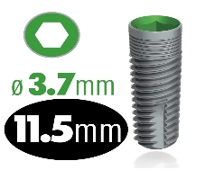 Infinity Internal Hex Implant 3.7mm x 11.5mm