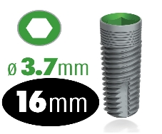 Infinity Internal Hex Implant 3.7mm x 16mm