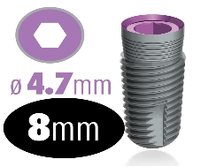 Infinity Internal Hex Implant 4.7mm x 8mm