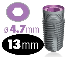 Infinity Internal Hex Implant 4.7mm x 13mm