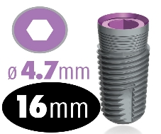 Infinity Internal Hex Implant 4.7mm x 16mm