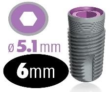 Infinity Internal Hex Implant 5.1mm x 6mm
