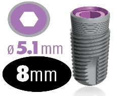 Infinity Internal Hex Implant 5.1mm x 8mm