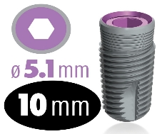 Infinity Internal Hex Implant 5.1mm x 10mm