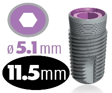 Infinity Internal Hex Implant 5.1mm x 11.5mm