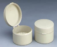 Cotton Roll Container Round Mauve Ea