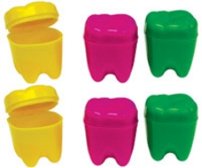 Toy Tooth Shaped Tooth Savers Assorted 72/Pk