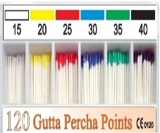 Maxima Gutta Percha Points Points Color Coded Assorted 120/Box