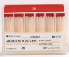 Maxima Absorbent Points Color Coded Style 501 Size 25 200/Box