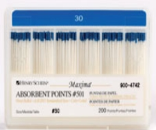 Maxima Absorbent Points Color Coded Style 501 Size 30 200/Box