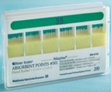 Maxima Absorbent Points Color Coded Style 501 Size 35 200/Box