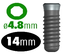 Infinity OCTAGON IMPLANT 4.8 x 14mm, RP