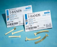Matrix T-Bands Brass Curved Large 100/Box