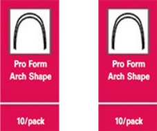 Super Elastic Nitanium Archwires – Pro Form Arch Shape (10/Pack) – .016 x .022 Lower